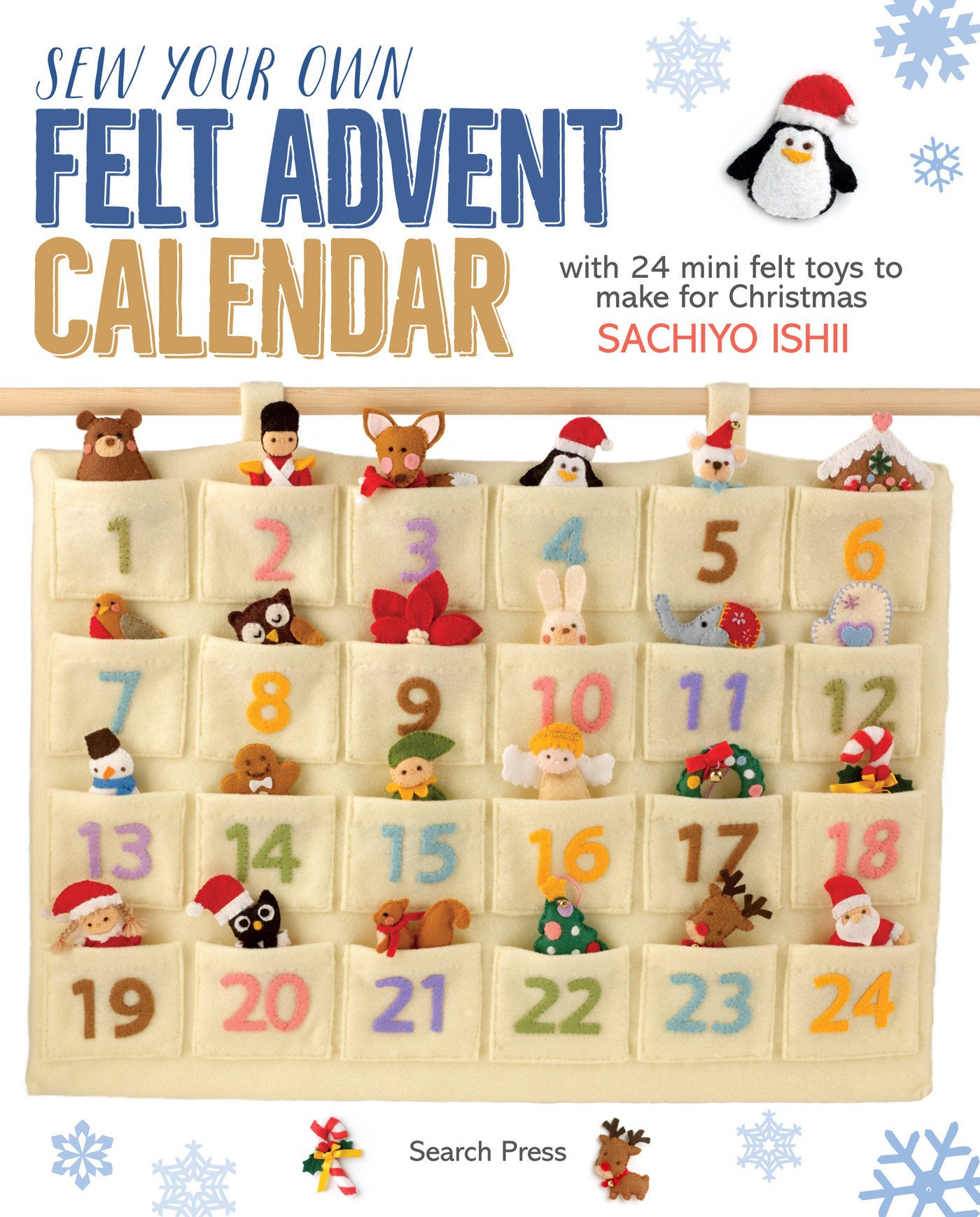 Sew Your Own Felt Advent Calendar With 24 Mini Felt Toys To Make