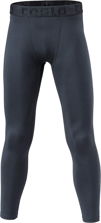 TSLA Boys Compression Pants Baselayer Cool Dry Sports Tights Leggings