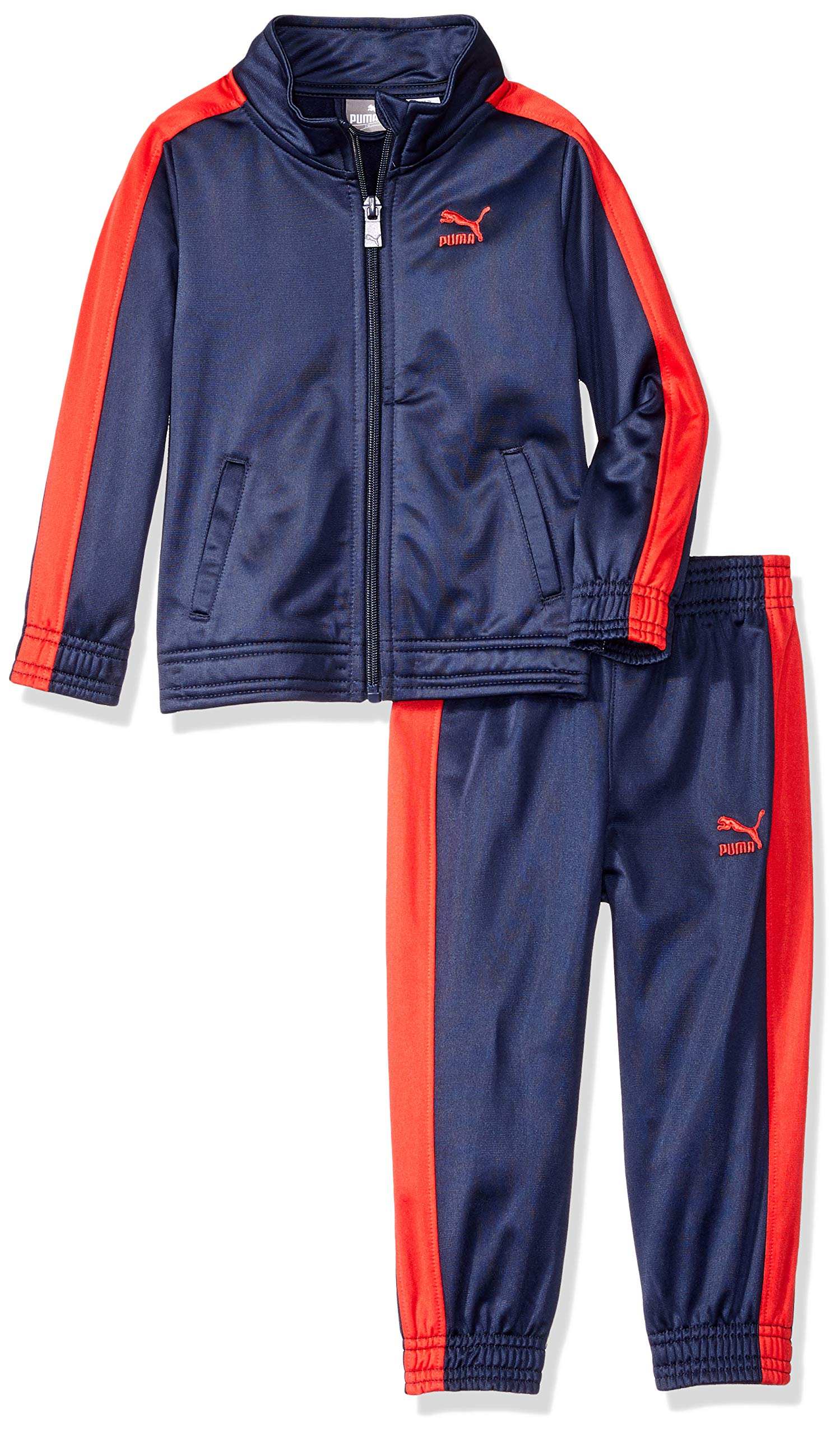 PUMA Toddler Boys' Tricot Pant Set, Peacoat, 4T
