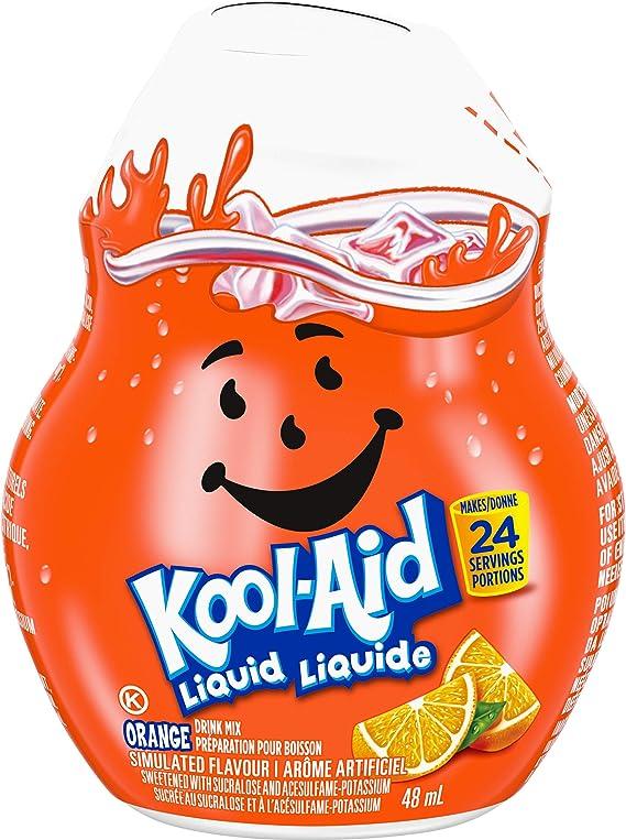【2個ハワイ直送】 お水に数滴混ぜるだけ クールエイド オレンジ味 48ml (24杯分) Kool-Aid Orange Liquid Drink Mix, 1.62 fl oz
