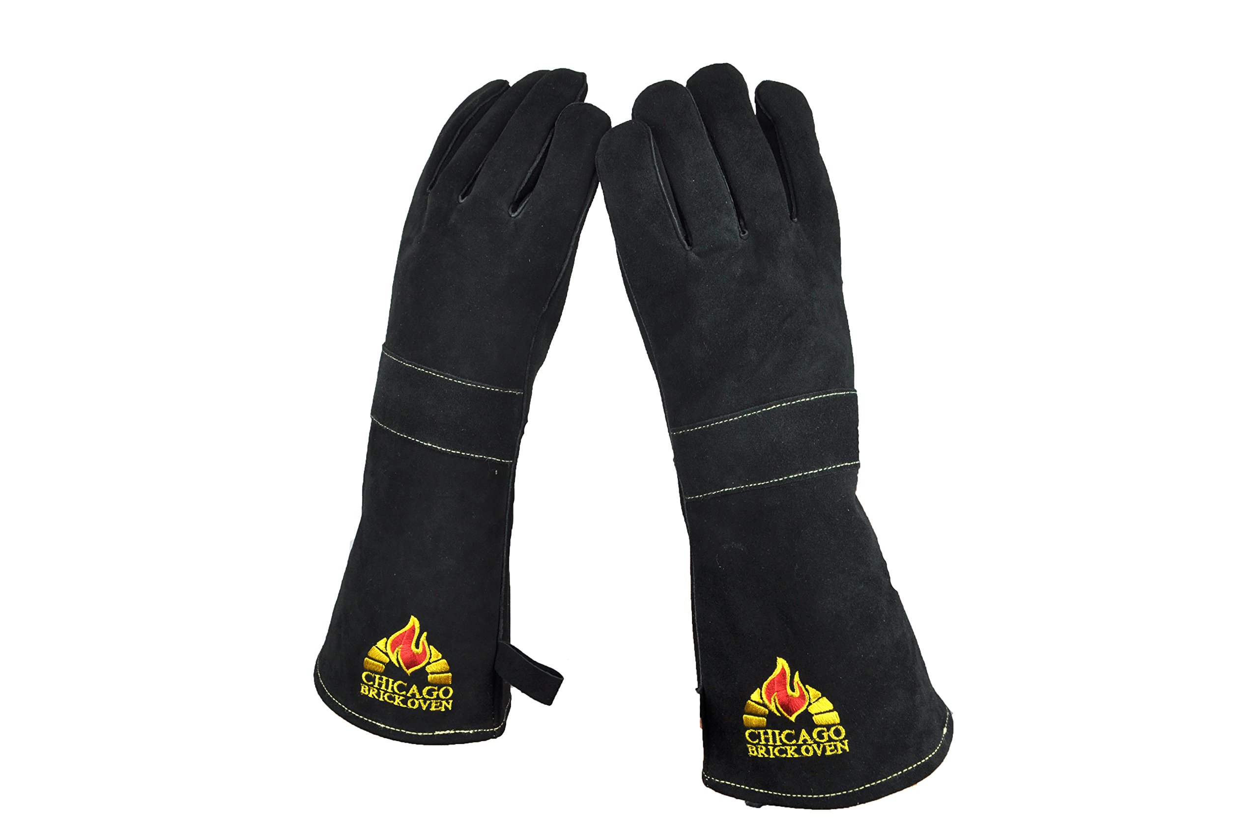 Versatile Welding BBQ Oven Gloves with Premium Cowhide Leather and Kevlar Stitching - Heat Fire Resistant up to 932° F, 16'' Extra Long Sleeves for Safety Protection