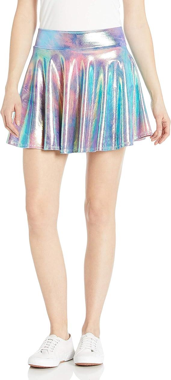 Pastel Rainbow Plaid Cargo Skirt with Chain  Oversized Pocket Pleated Mini Skirt