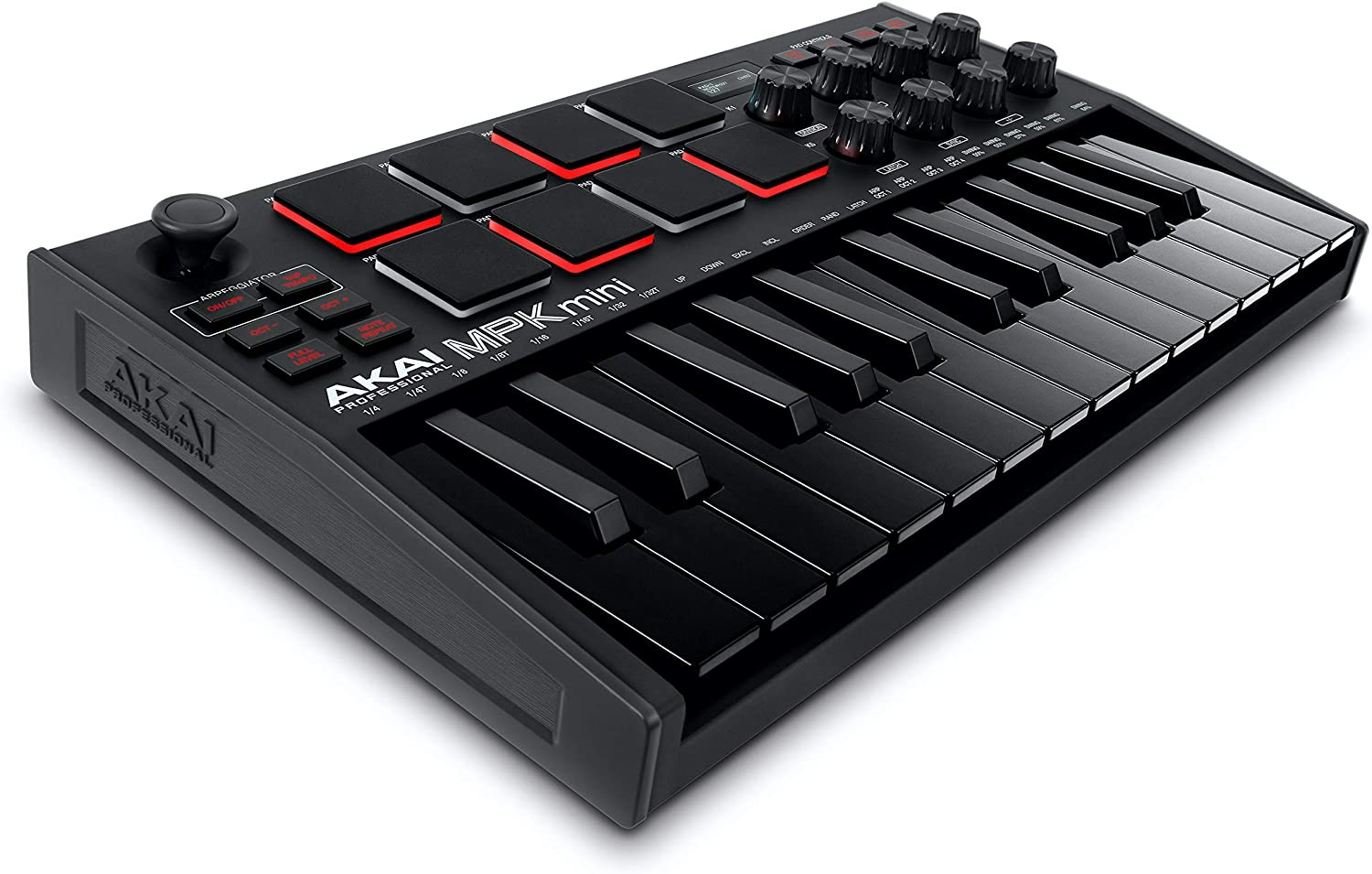 AKAI Professional MPK Mini MK3 | 25 Key USB MIDI Keyboard Controller With 8 Backlit Drum Pads, 8 Knobs and Music Production Software included (Black)