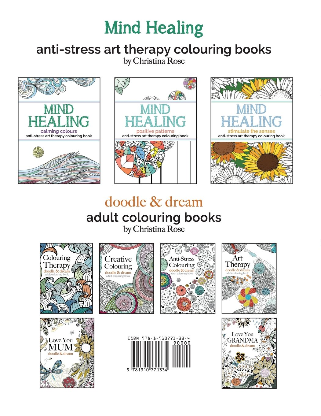 Creative anti stress colouring book - Mind Healing Anti Stress Art Therapy Colouring Book Positive Patterns Experience Relaxation And Stimulation Through Colouring Christina Rose