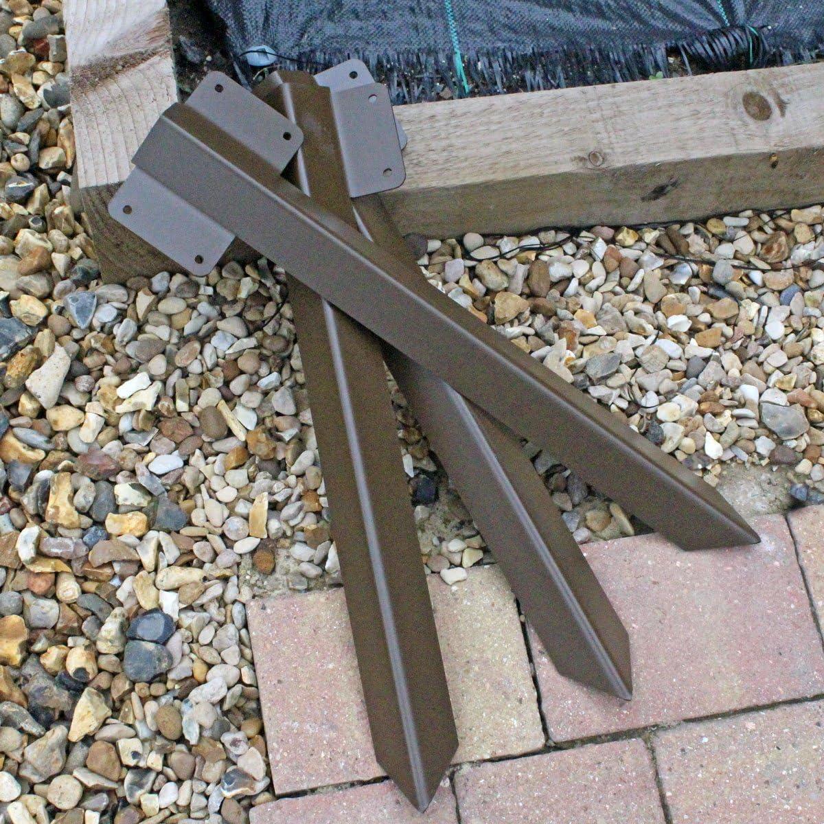Calzada de madera resistente para traviesas de ferrocarril, con soporte con bordes rectos en color marrón: Amazon.es: Bricolaje y herramientas