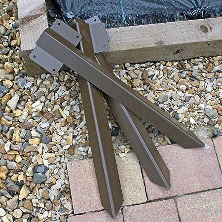 Bord rectiligne Support solide pour traverse de chemin de fer en bois marron