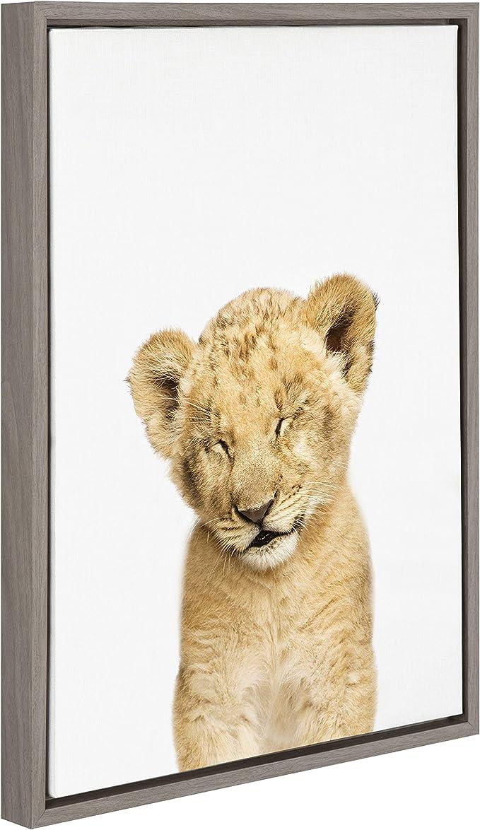 New Handmade Large Lion Family Toss Print Wildlife Denim Tote Bag