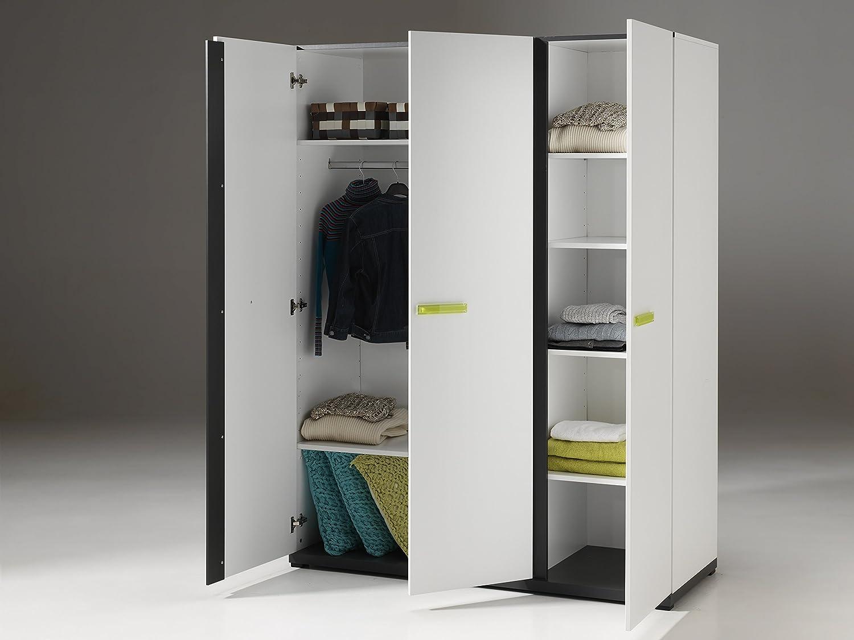 autobett nikl1314 nixon schrank mit 3 t ren holz wei 200 x 150 x 59 cm g nstig online kaufen. Black Bedroom Furniture Sets. Home Design Ideas