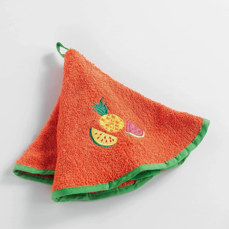 60 cm Schwamm Bestickt Fruitero Orange Douceur dInt/érieur Handtuch rund