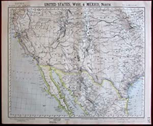Southwest United States California Colorado North Mexico 1883 Lett's SDUK map