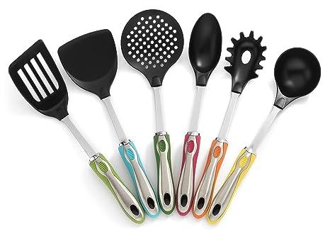 Amazon.com: RSG menaje – 7 pc colorida y elegante cocina ...
