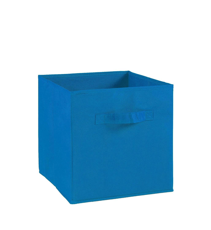 27 x 27 x 28 cm Tissu//Carton Bleu Electrique Alsapan 543674 Tiroir