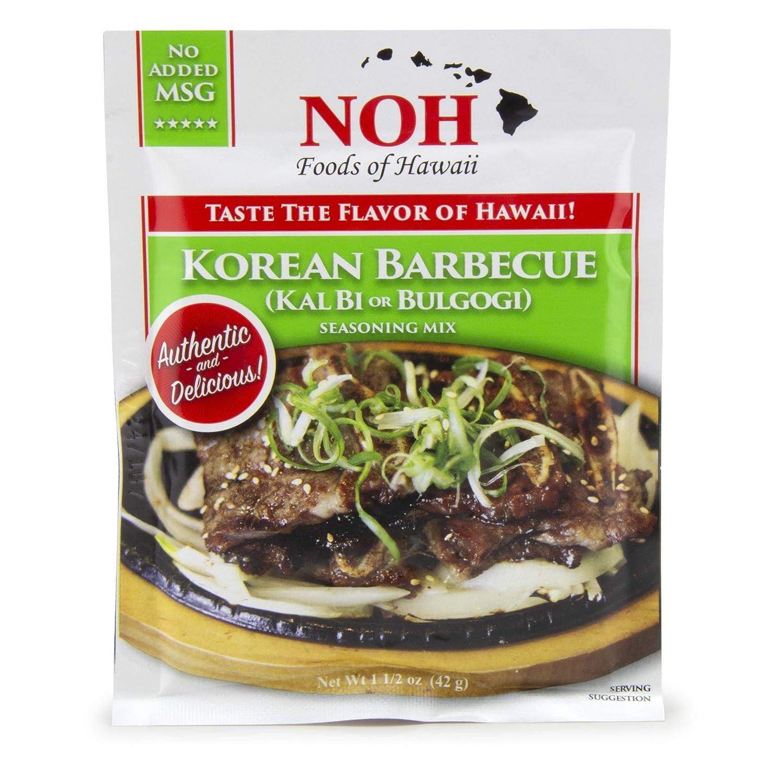 NOH Korean Barbecue (Kal Bi), 1.5-Ounce Packet, (Pack of 12)