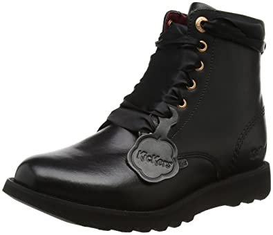 Kickers Lite Boot LTHR AF, Bottes Femme, (Black/Black), 37 EU