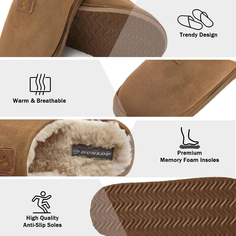 chaud et confortable Pantoufles fantaisie pour homme et gar/çon avec semelle en tissu /à points et motif animal en peluche taille 40,5-42-43-44,5-46-47 id/ée cadeau