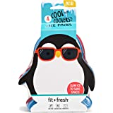 Fit & Fresh Cool Coolers Lunch Ice Packs, Set of 4, Multicolored, Penguins
