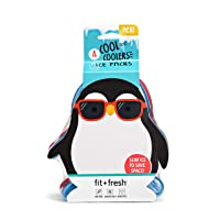 Fit & Fresh Cool Coolers, Slim Ice Packs for Lunch Boxes, Bags and Coolers,  Penguin...