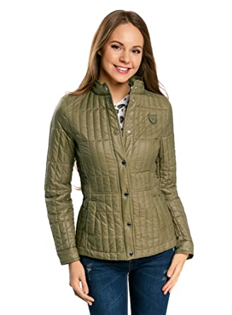oodji Collection Womens Quilted Stand Collar Vest Gilets