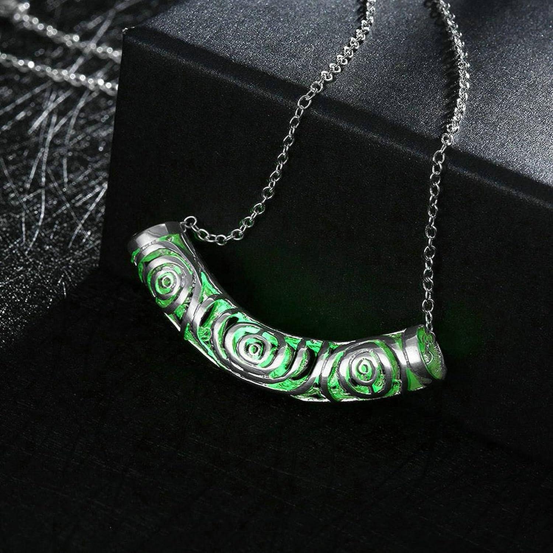 Men Luminous Necklace Stainless Steel Luminous Hollowed Illuminated Jewelry Aooaz Jewelery Women