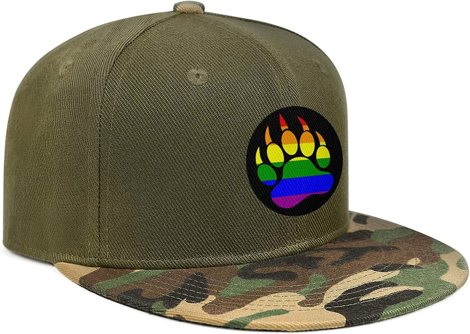 California Bear Palm Rainbow Unisex Baseball Cap Two-Tone Stretch Sport Caps Adjustable Trucker Caps Dad-Hat
