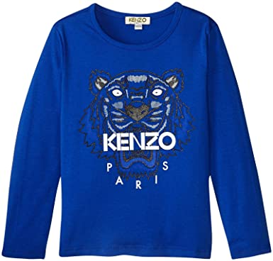 f3c0fd97e6a1 Tee Shirt Kenzo Kids Tigre Bleu - Junior  Amazon.fr  Vêtements et ...