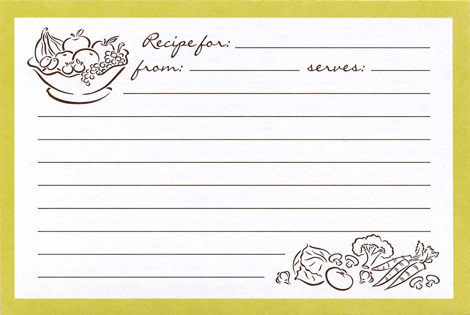 Meadowsweet Kitchens Recipe Card Set-Modern Kitchen Green RC/P 25MKG