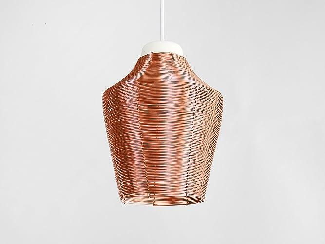Lampada In Rame Design : Lampada a sospensione in rame intrecciato alto copper braided
