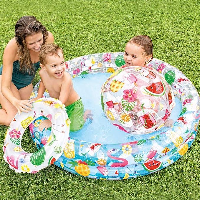 Intex 59460NP - Piscina, flotador y pelota 51 cm 122 x 25 cm, 150 litros: Amazon.es: Juguetes y juegos