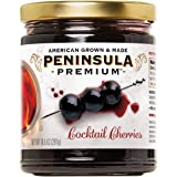 Peninsula Premium Cocktail Cherries   Award Winning   Deep Burgundy-Red   Silky Smooth, Rich Syrup   Luxe Fruit Forward, Swee