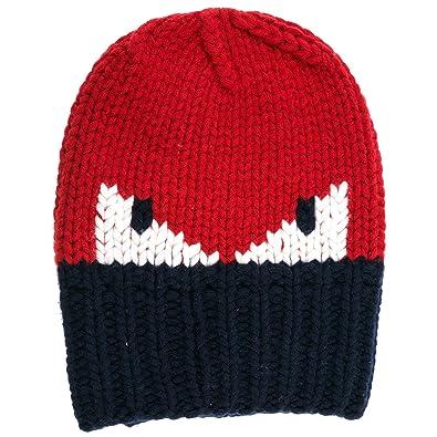 31638032a61 Fendi men s wool beanie hat Monster Eyes red UK size UNI FXQ053 I1A F0QC9
