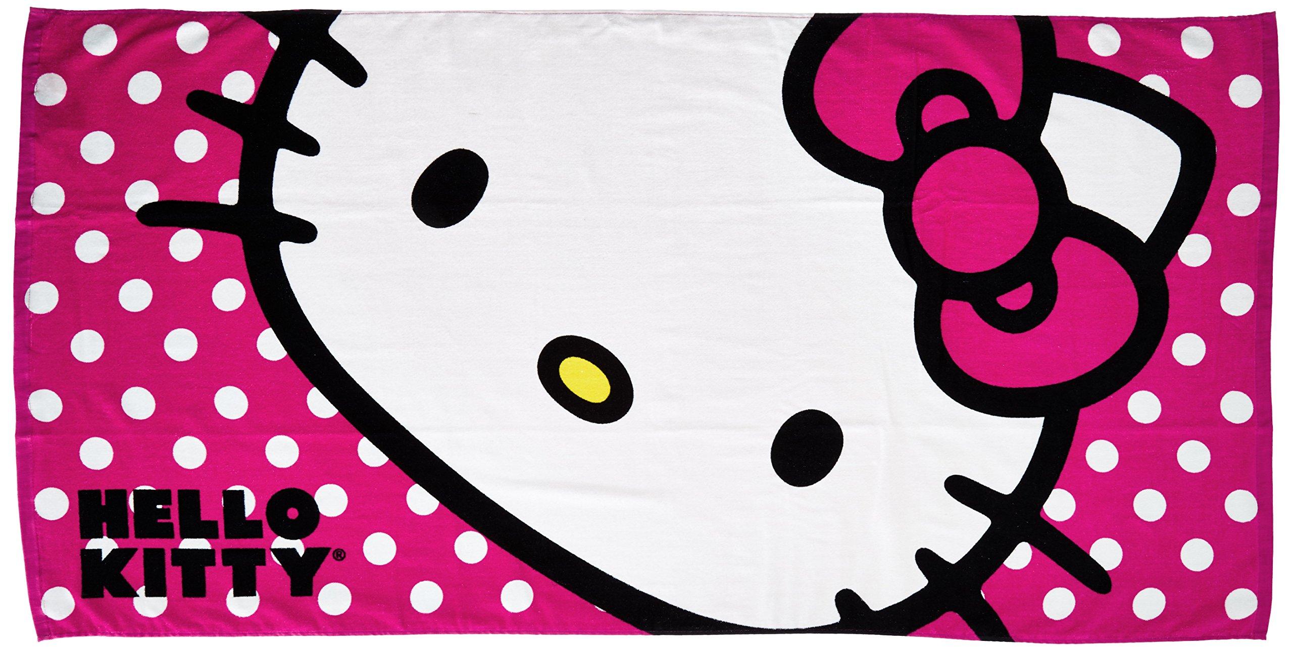 The Northwest Company Sanrio Hello Kitty Happy Kitty Beach Towel, 30 by 60''