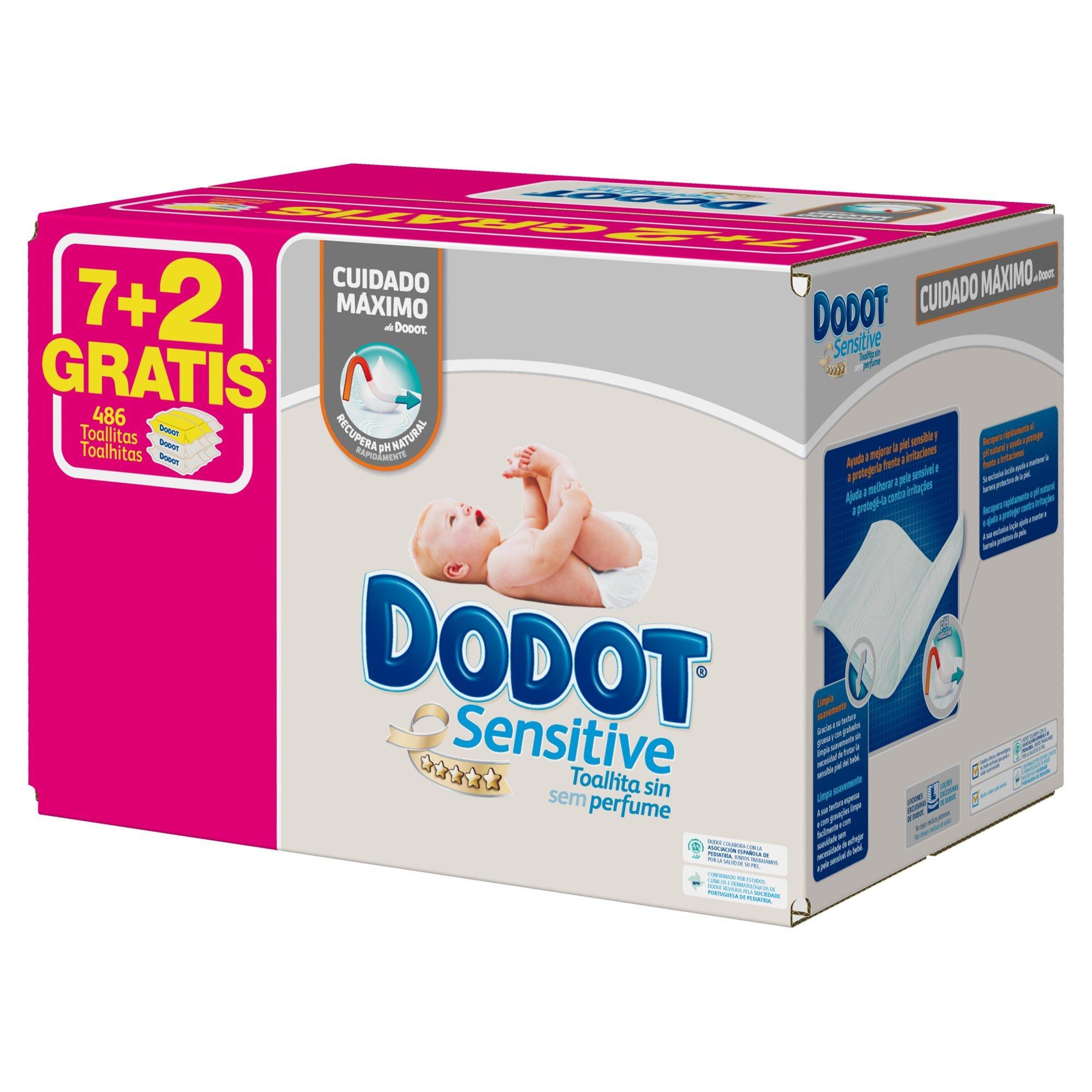 Dodot Toallitas Sensitive - 9 Paquetes de 54 unidades - Total: 486 Toallitas product image
