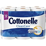 Cottonelle CleanCare Big Roll Toilet Paper, Bath Tissue, 12 Toilet Paper Rolls
