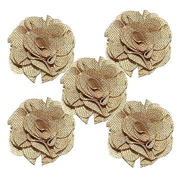5x Toruiwa Kunstblumen Kunstliche Deko Blumen Leinen Blume Fur