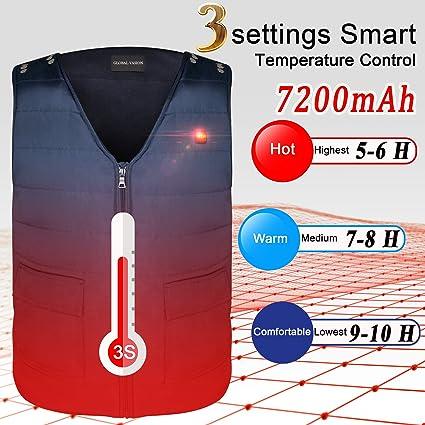 ARRIS Electric Heated Vest  w 7.4V 7200mAh Battery Size Adjustable Washable Coat