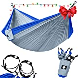 Amazon Price History for:Legit Camping - Double Hammock - Lightweight Parachute Portable Hammocks for Hiking , Travel , Backpacking , Beach , Yard . Gear Includes Nylon Straps & Steel Carabiners