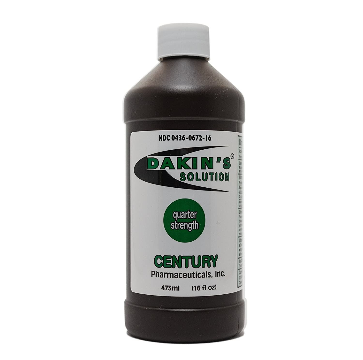 Dakin's Solution-Quarter Strength 304360672168 Sodium Hypochlorite 0.125% Wound Therapy for Acute and Chronic Wounds by Century Pharmaceuticals