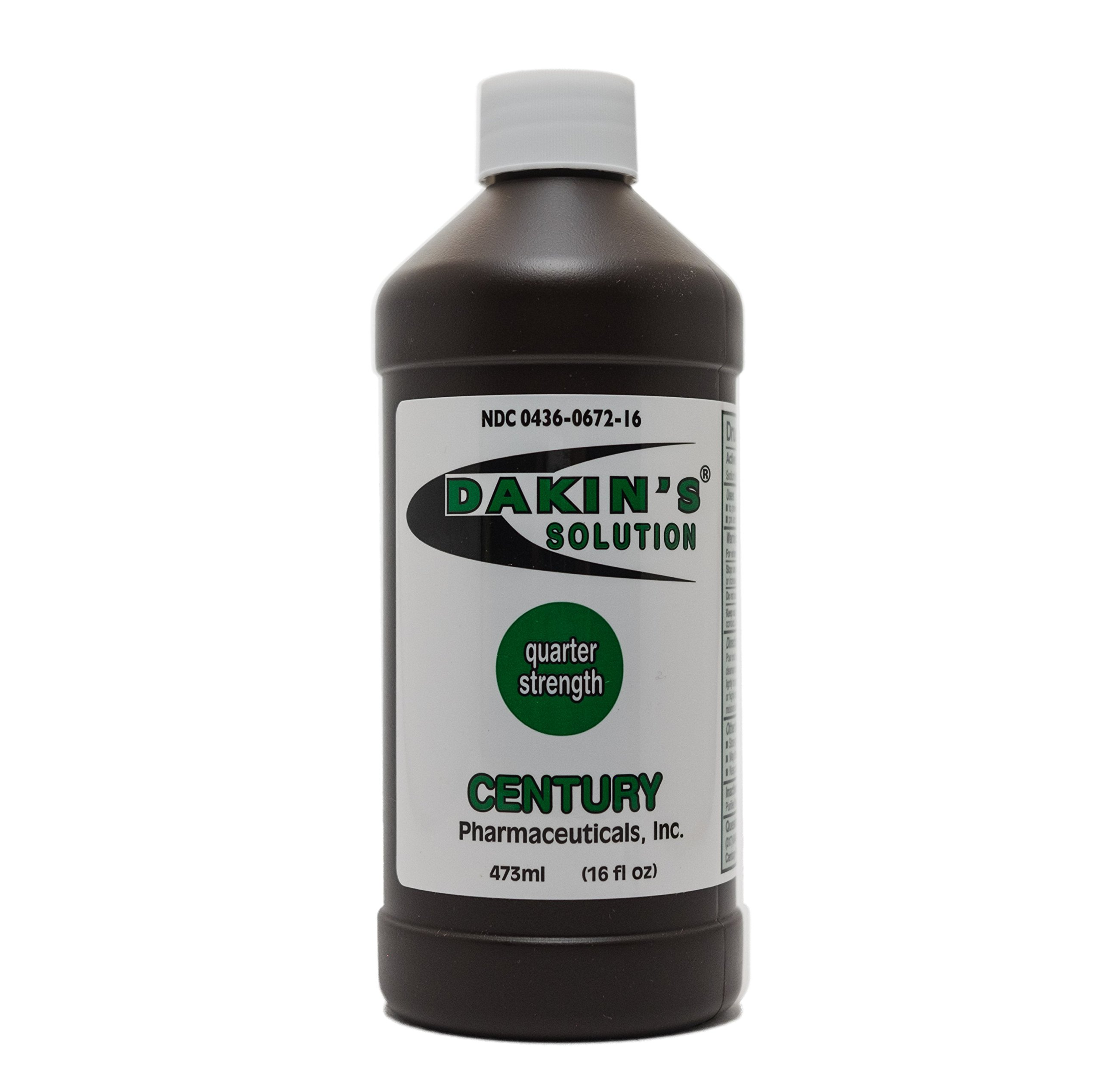 Dakin's Solution-Quarter Strength 304360672168 Sodium Hypochlorite 0.125 % Wound Therapy for Acute and Chronic Wounds by Century Pharmaceuticals