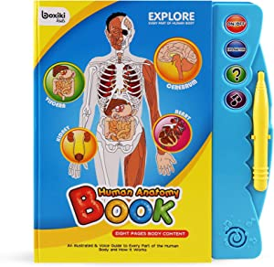 Boxiki kids Human Body Book   Human Anatomy for Kids   Activity Books for Kids Ages 3 and Older   Science Books for Kids   Kids Educational Toys   Baby Learning Toys
