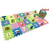 Toy Park 36 pcs Alphanumeric Non Toxic EVA MAT Puzzle for Kids (17x17cmx8.5mm/ Tile)- Pack of 36 Pieces