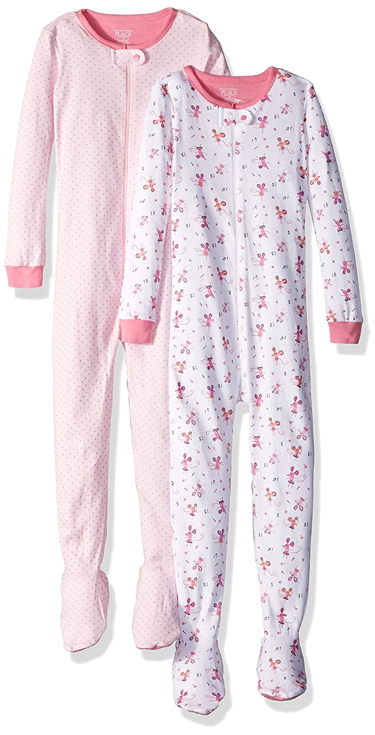 The Children's Place Baby Girls' Long Sleeve One-Piece Pajamas 2