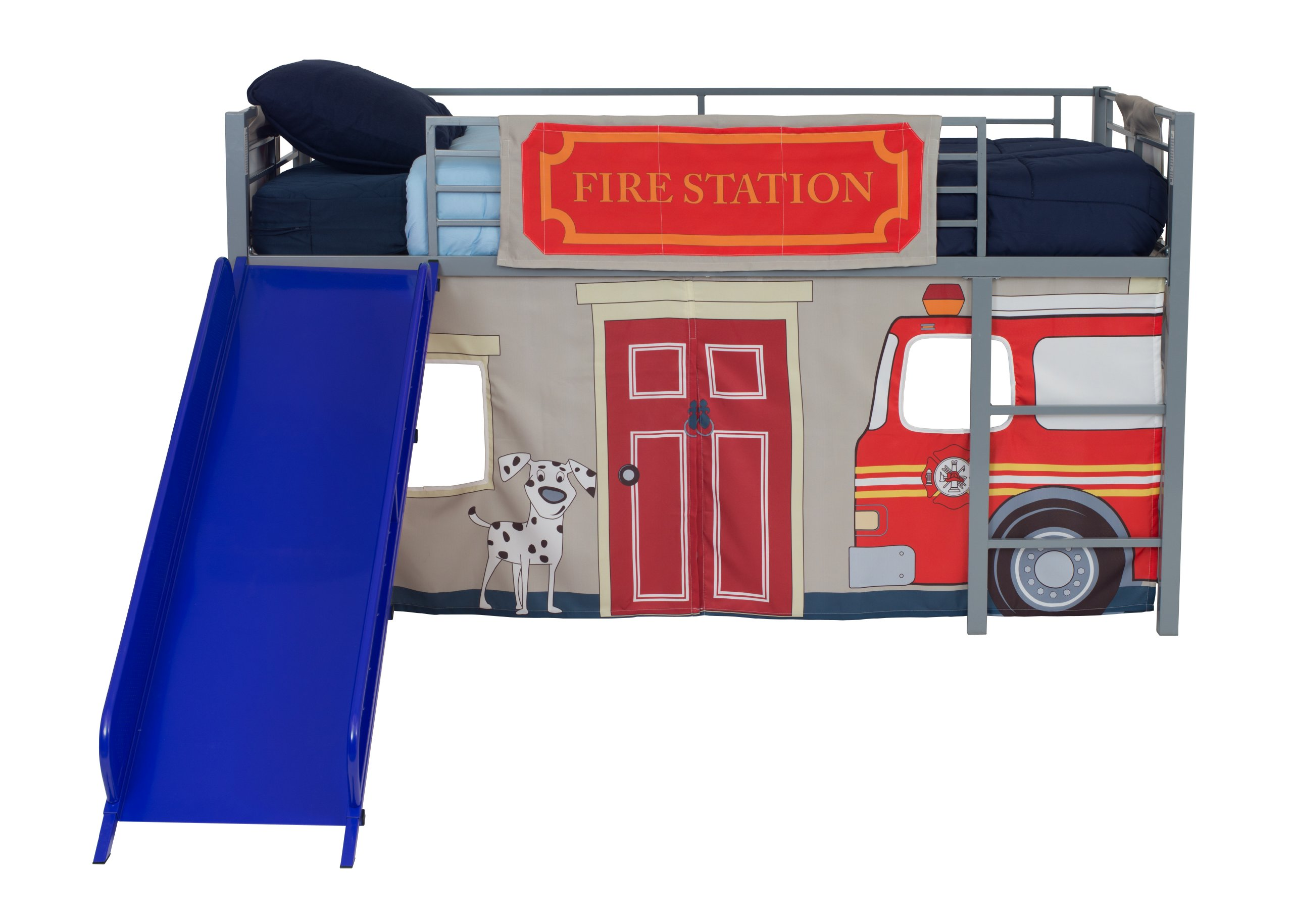 Kids Loft Bed Curtain Set Boy Firefighter Fireman Jr Bunk