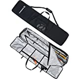 Winterial Rolling Double Ski Bag Travel Bag with 5 Storage Compartments and Reinforced Double Padding Perfect for Road Trips