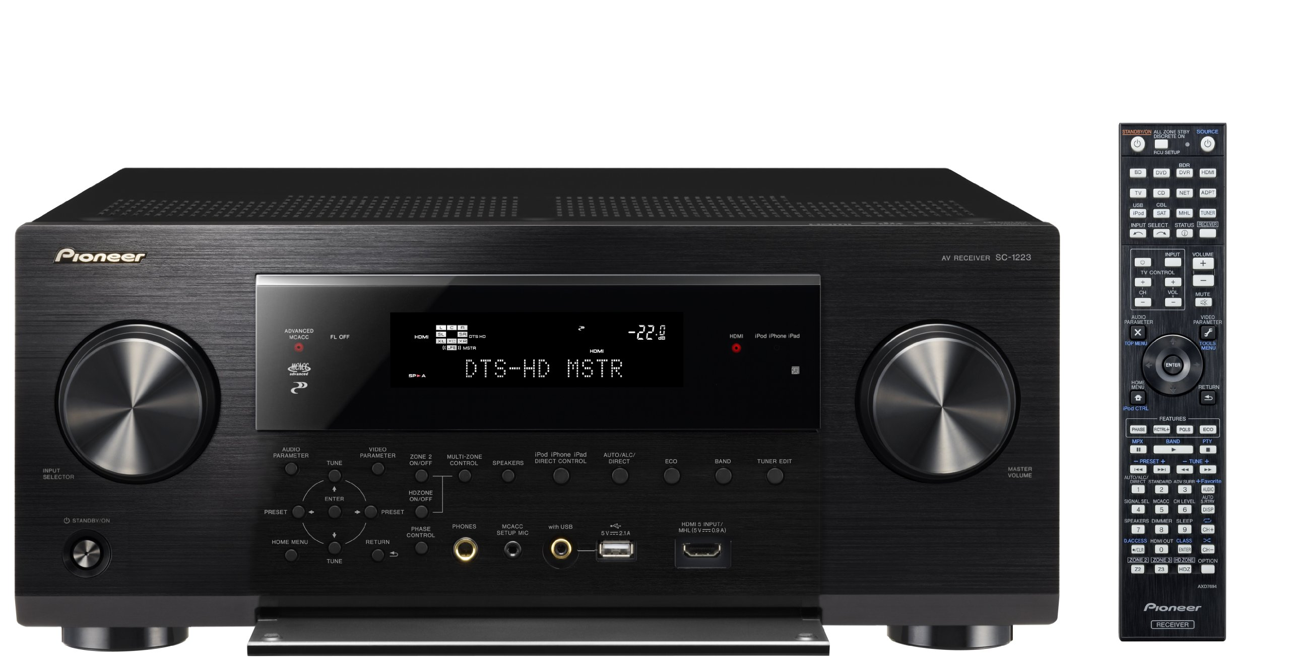 Pioneer SC-1223-K 7.2-Channel Network A/V Receiver by Pioneer
