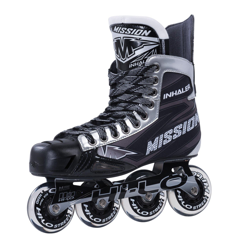 Bauer Mission Senior RH Inhaler Nls 06 Hockey Skate, Black, E 10.0