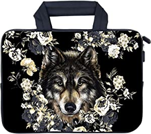 """AMARY 11.6"""" 12"""" 12.1"""" 12.5 inch MacBook air Sleeve Neoprene Notebook Carrying Pouch Chromebook Sleeve Ultrabook Case Tablet Cover Fit Apple MacBook Air HP DELL Lenovo Asus Samsung (Wolf)"""