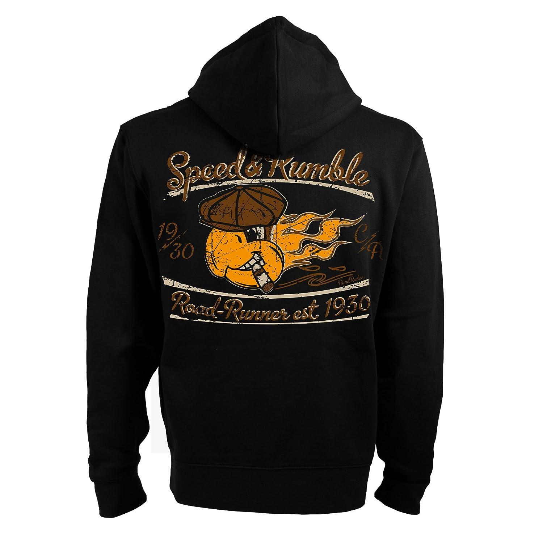 VINTAGE SWEATSHIRT SCOOTER HOODIE PULLOVER HOODED SHIRT BLACK ROCKABILLY