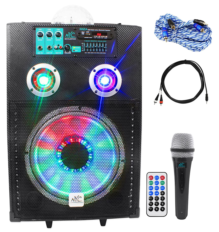 "Amazon NYC Acoustics Active 12"" Karaoke Machine System 4 ipad iphone Android Laptop TV Musical Instruments"