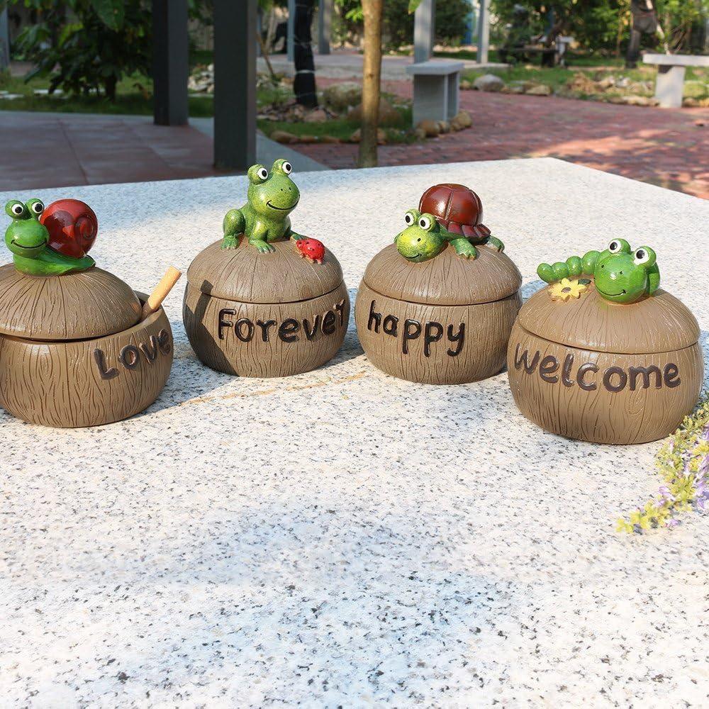 jardin et bar Caterpillar Cendrier pour cendrier cr/éatif et lourd avec couvercle pour maison