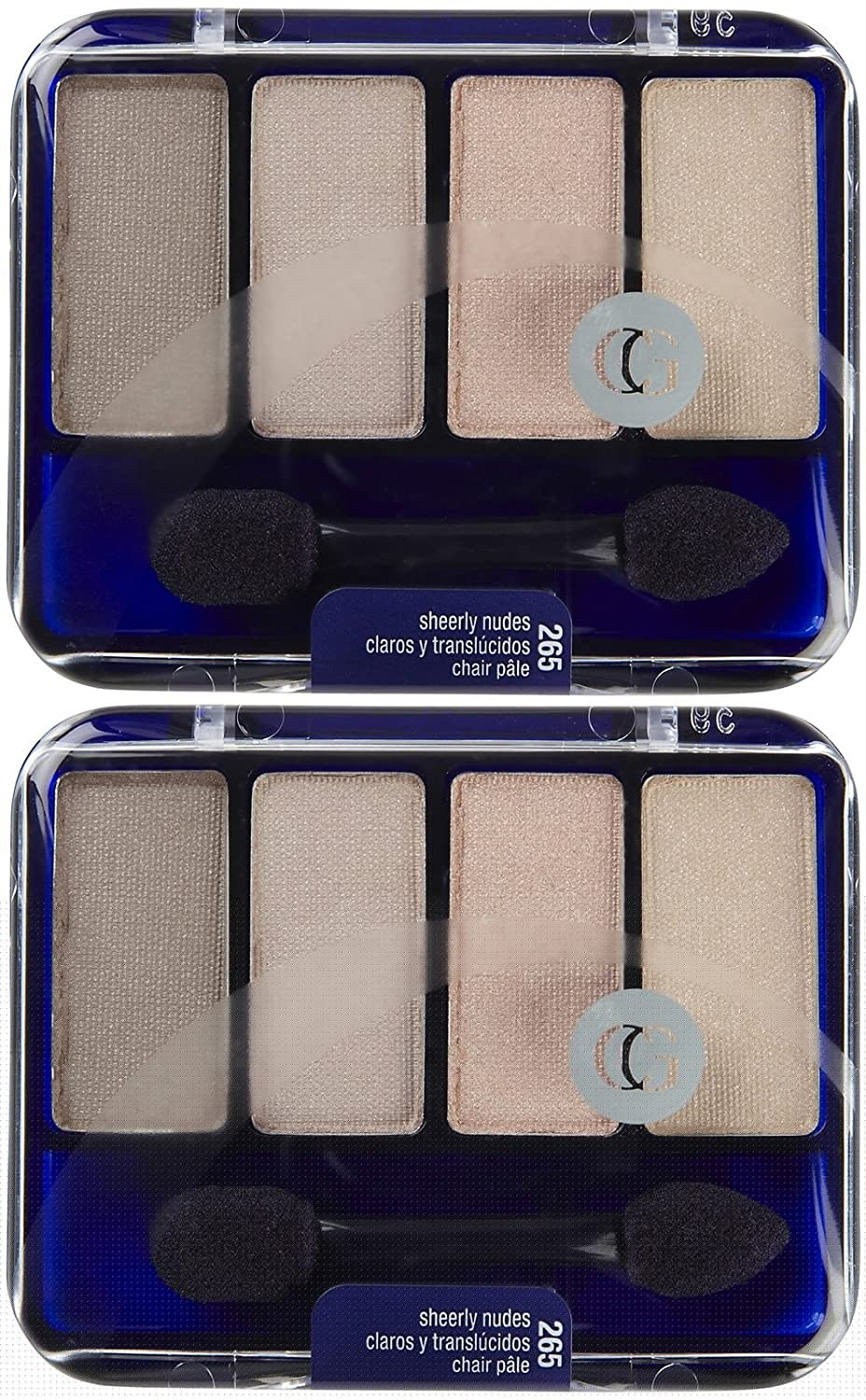 CoverGirl Eye Enhancers 4- Kit Shadows - Sheerly Nudes (265) - 2 pk by COVERGIRL